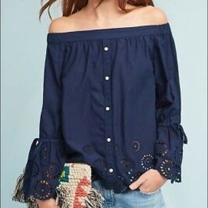 Isabella Sinclair off shoulder eyelet blouse XS